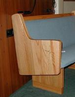 oak church pew end