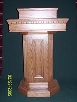 solid oak pedestal pulpit