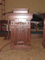 custom oak pulpit