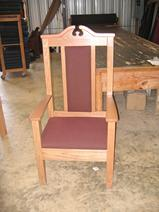 Solid Oak Pulpit Chair