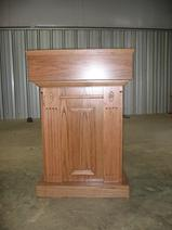 Custom Fluted Oak pulpit