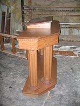 stained column pulpit