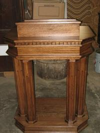 small column pulpit