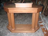 oak column pulpit