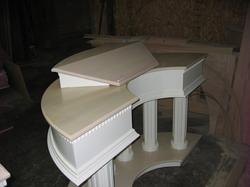 custom radius colonial pulpit