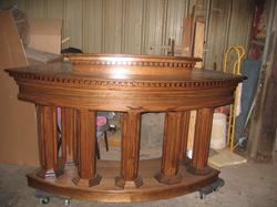 custom oak radius pulpit